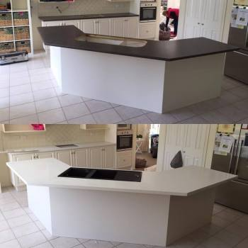 Caesarstone Kitchen Countertop Refit, Ringwood North