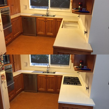 Reconstituted Stone Benchtop Remodel