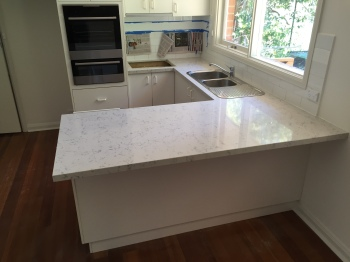 Engineered Stone Kitchen Benchtop, Canterbury