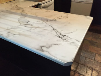 Laminate Benchtop in Cerrara Marble, Hurstbridge