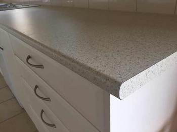 Laminate Kitchen Benchtop in Sand Pebble, Blackburn