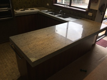 New Granite Kitchen Benchtop, Vermont South
