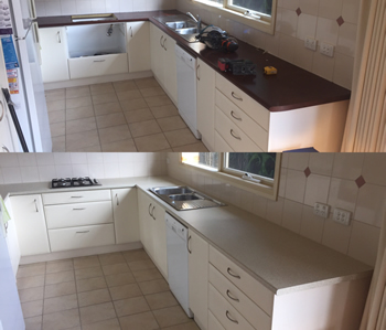 Laminate Benchtop Before & After Gallery