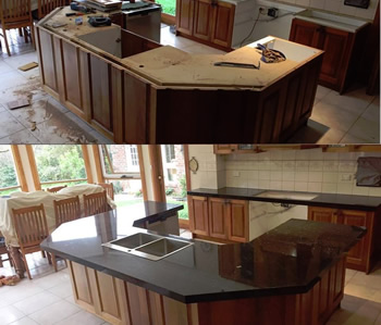 Granite Benchtop Before & After Gallery