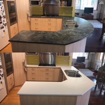 Laminate Benchtops Before and After in Mont Albert North